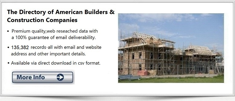 Email Address List Builders Contractors Construction Firm